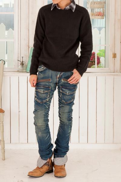 シャツ+セーター+パンツ(3点セット)