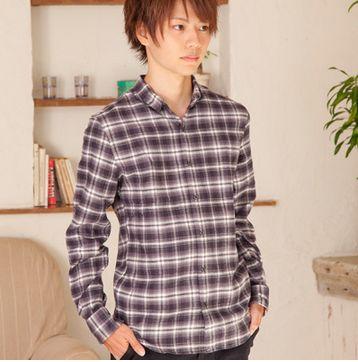 ビエラ起毛チェックシャツ(ブラック)