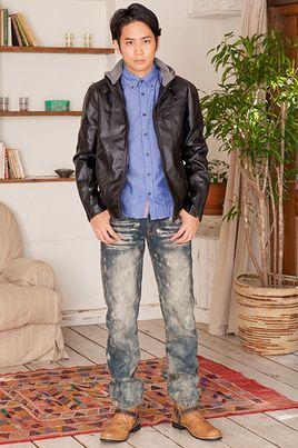 ジャケット×シャツ×デニムパンツ(3点セット)