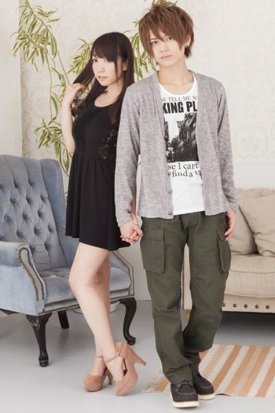 カーディガンx長袖Tシャツアンサンブル×6ポケットカーゴパンツ(2点セット)