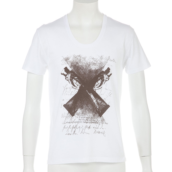 コーマ天竺デザインTシャツ(ホワイト)