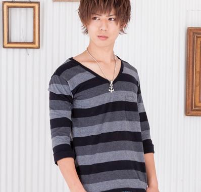 マルチボーダーTシャツ(ブラック)