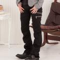 3ZIPスキニーブーツカットパンツ(ブラック)