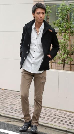 ジャケット シャツ チノパン2