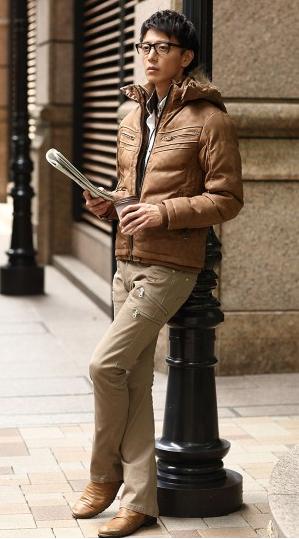 中綿ジャケット シャツ チノパン 0305