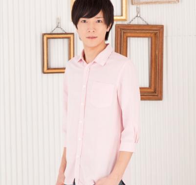 麻レーヨン七分袖シャツ(ピンク)