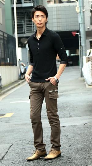 ポロシャツ カーゴパンツ snp_grln1579