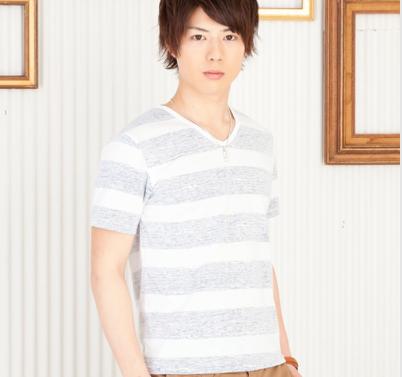 ボーダーTシャツ(ホワイト×ネイビー)
