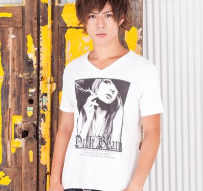 ガールズフォトプリントTシャツ(ホワイト)