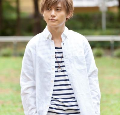 長袖シャツ×半袖ボーダーUネック綿麻Tシャツアンサンブル(2点セット)(ホワイト)