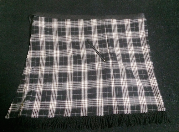 アシメキルト 巻きスカート