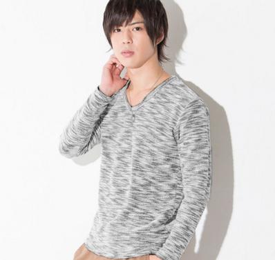 杢パイル長袖Tシャツ(ブラック)