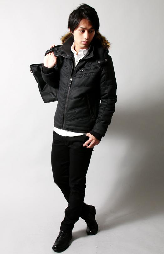 中綿フードジャケット メンズ
