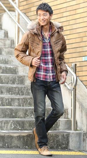 湿式ジャケット シャツ デニムパンツ