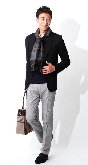 これぞビジネスカジュアル。清潔感と大人っぽさのジャケットスタイル