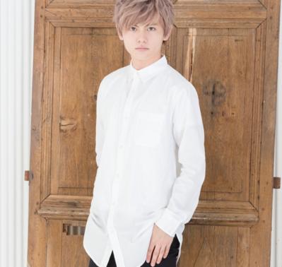 ロング丈長袖シャツ(ホワイト)
