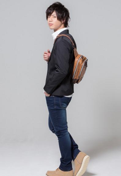 テーラードジャケット×バースデーシャツ×テレコ長袖T×デニム(4点セット)