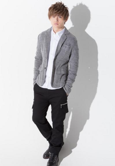テーラードジャケット×長袖シャツ×半袖T×カーゴパンツ(4点セット)