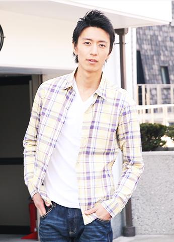 麻混チェックシャツ 日本製