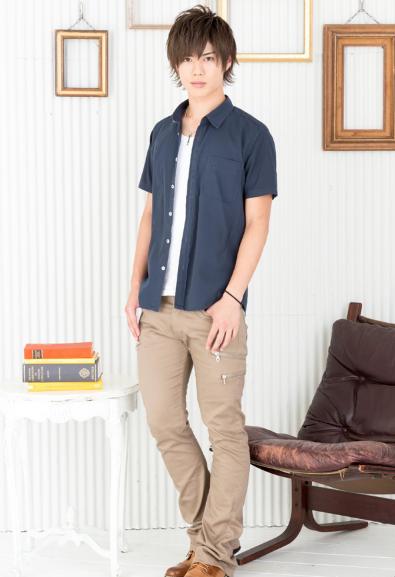 半袖シャツ×無地T×ブーツカットパンツ(3点セット)