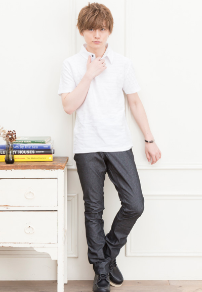 半袖ポロシャツ×ジップパンツ(2点セット)