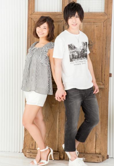 プリント半袖Tシャツ×デニムクロップドパンツ(2点セット)