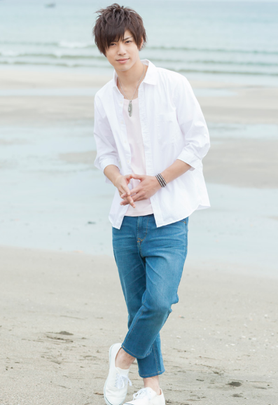 7分袖ブロードシャツ×半袖T×デニム九分丈パンツ(3点セット)