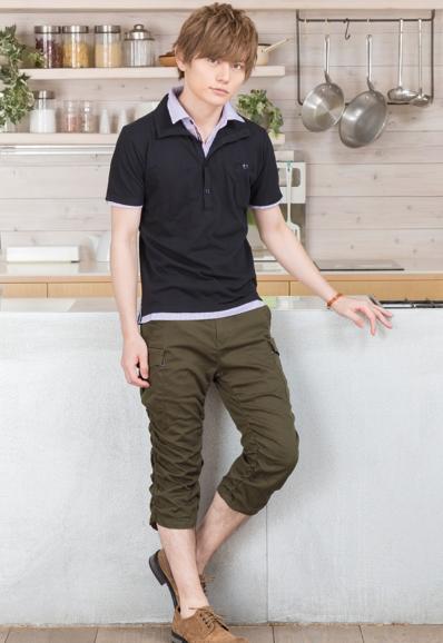 半袖ポロシャツ×カーゴパンツ(2点セット)
