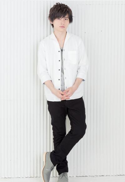 七分袖シャツ×半袖無地T×スキニーパンツ(3点セット)